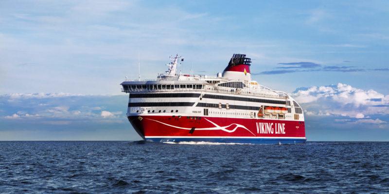 Fährschiff Viking XPRS auf offener See_Viking Line