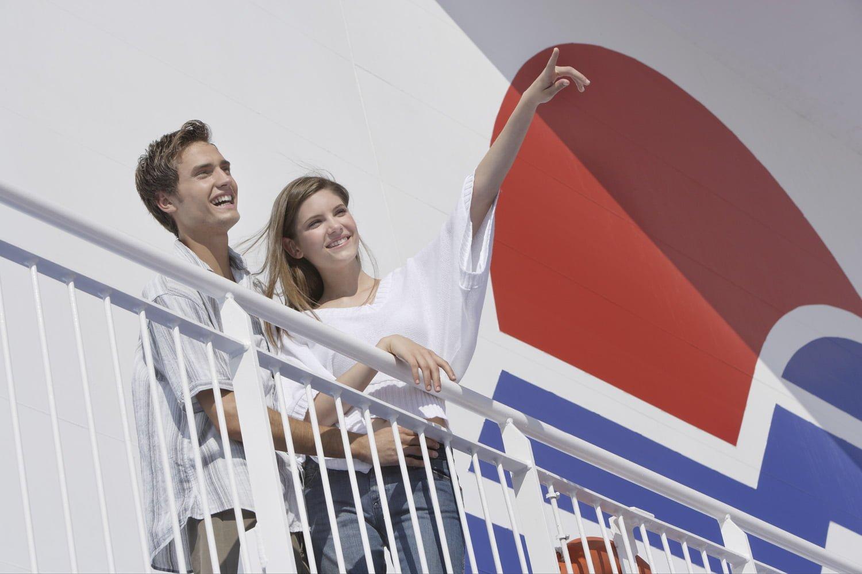 Fähre Superfast Ferries Paar an Bord