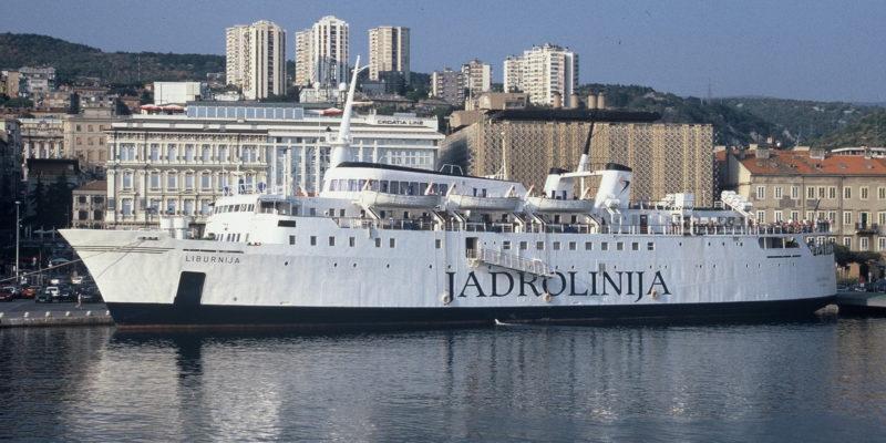 Jadrolinija _Fährschiff Liburniuja im Hafen von Rijeka