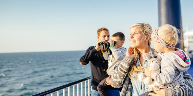 Fähre Scandlines Familie an Bord