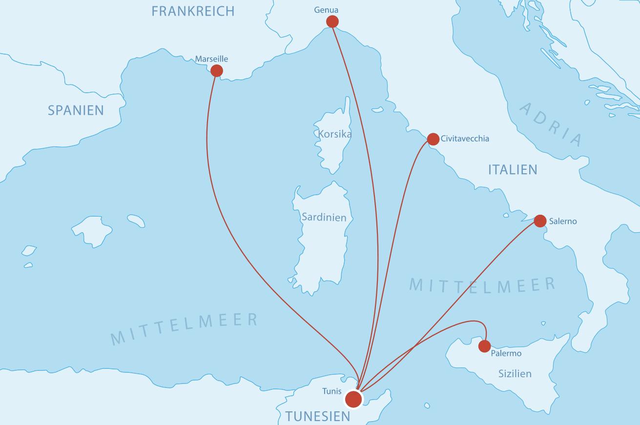 Fähren Tunesien