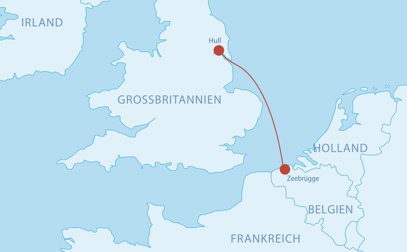 Fährverbindungen nach Belgien