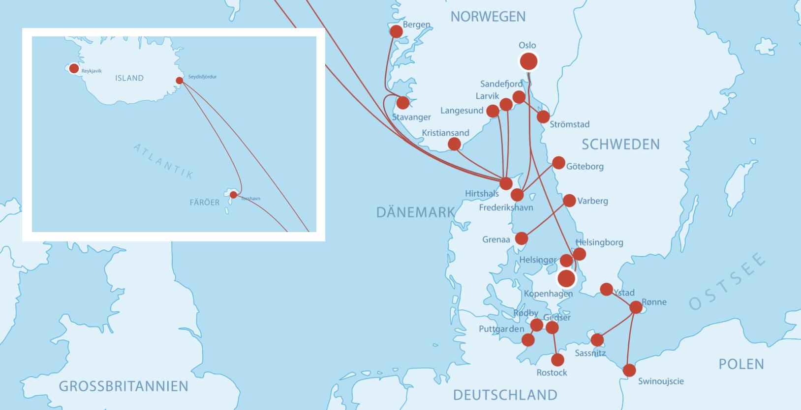 Fährverbindungen nach Dänemark