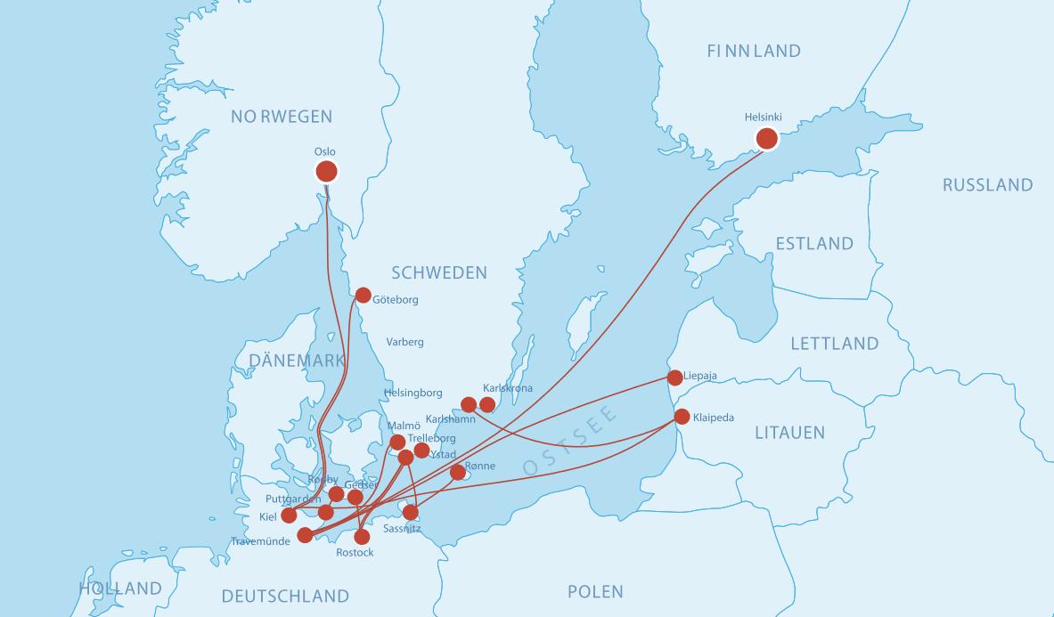 Fährverbindungen nach Deutschland