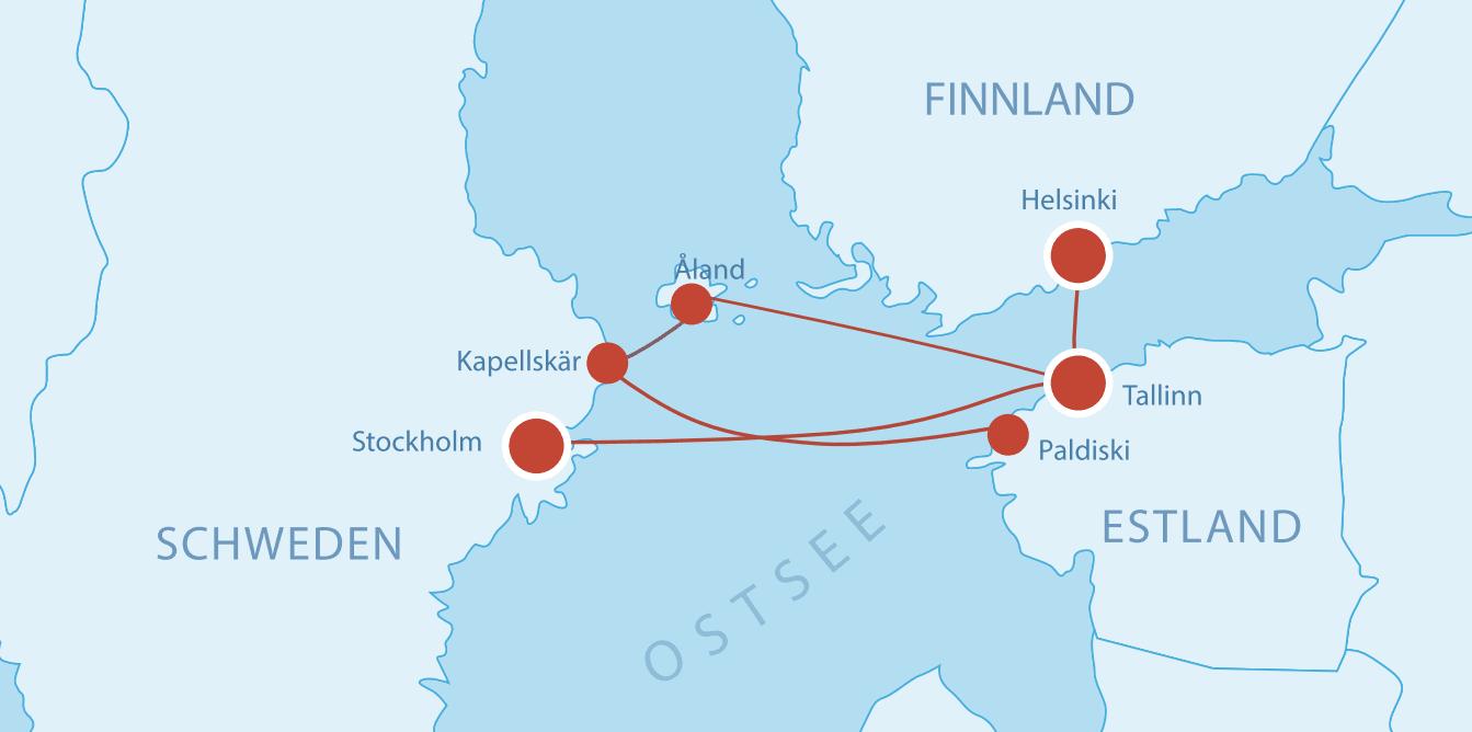 Fährverbindungen nach Estland