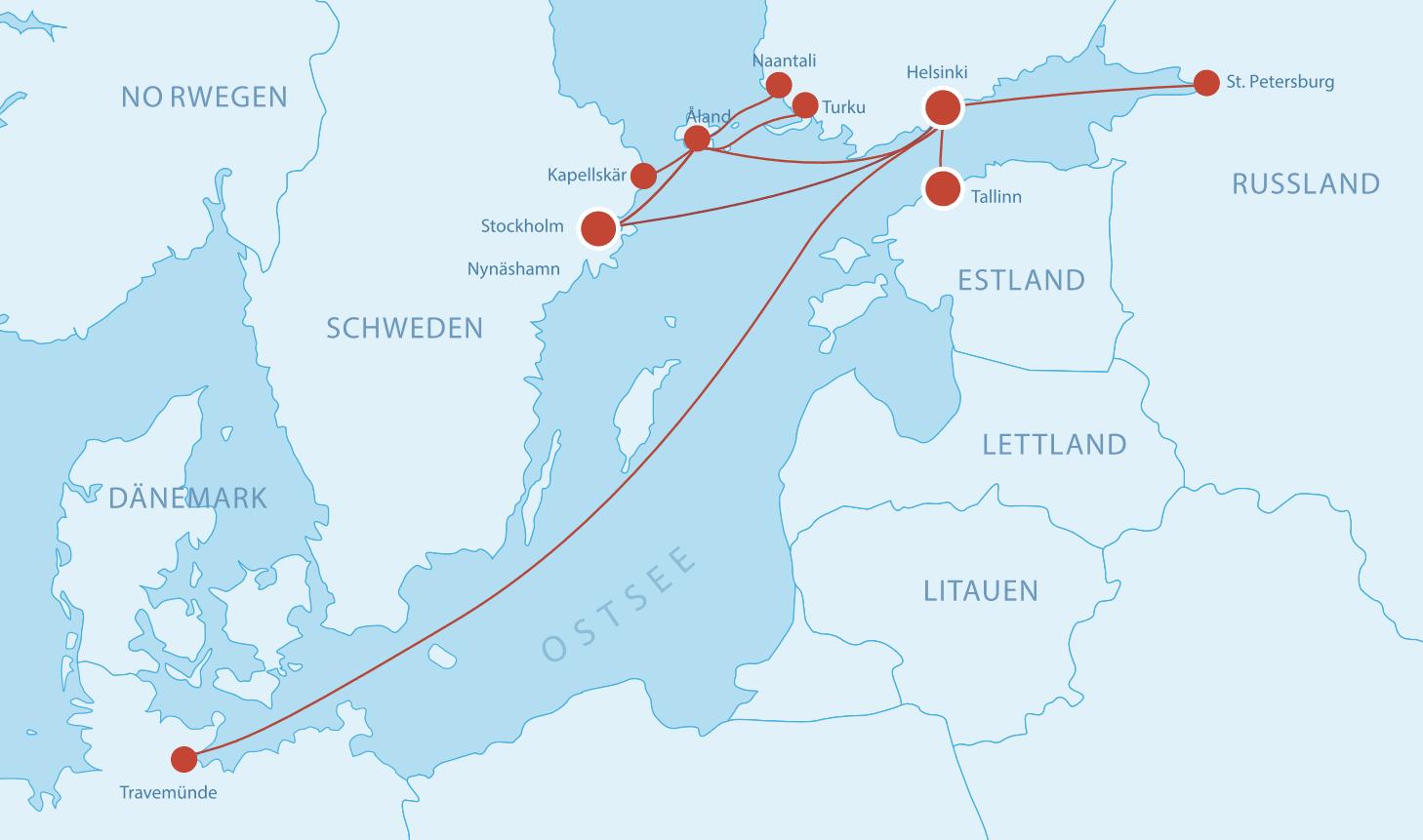 Fährverbindungen nach Finnland