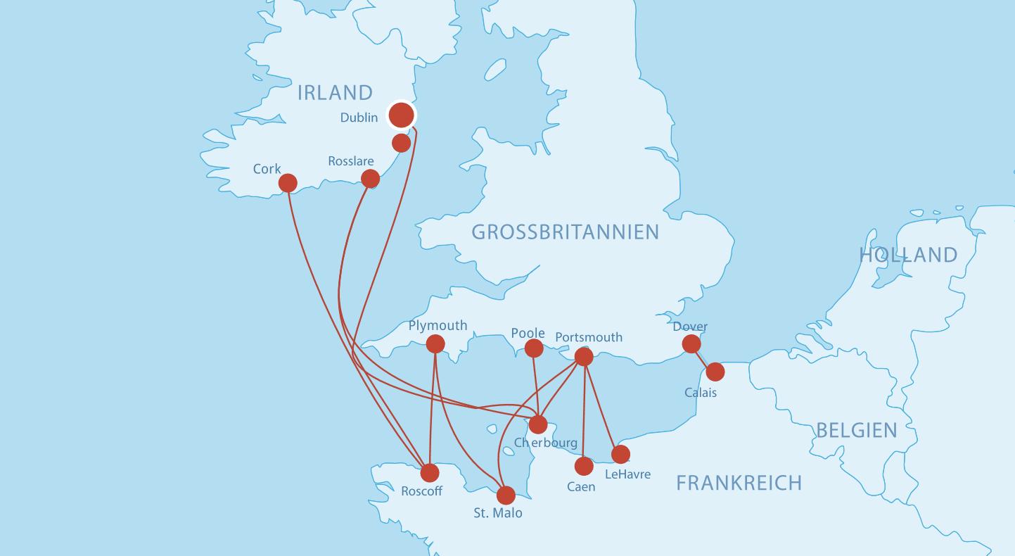 Fährverbindungen nach Frankreich_Norden