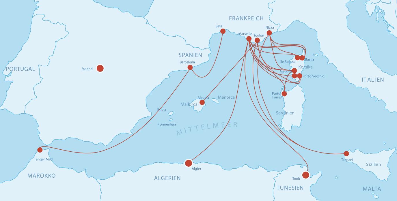 Fähren Frankreich (Süden)