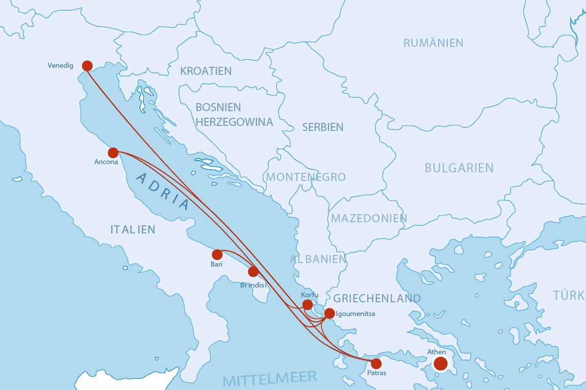 igoumenitsa griechenland karte Fähren nach Griechenland   Cruise & Ferry Center AG
