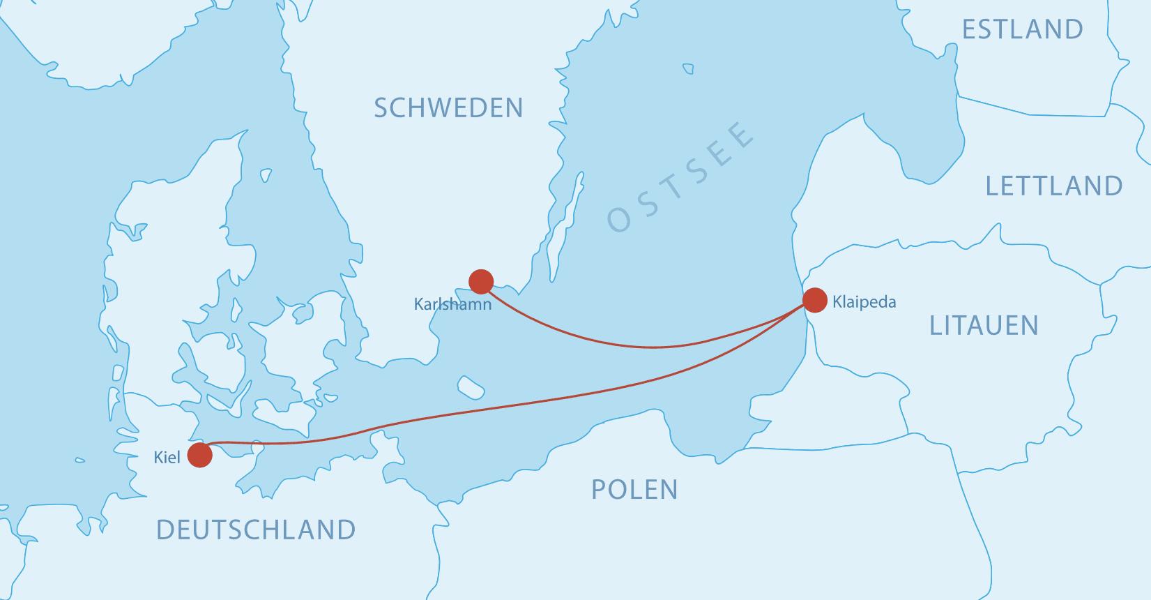 Fährverbindungen nach Litauen