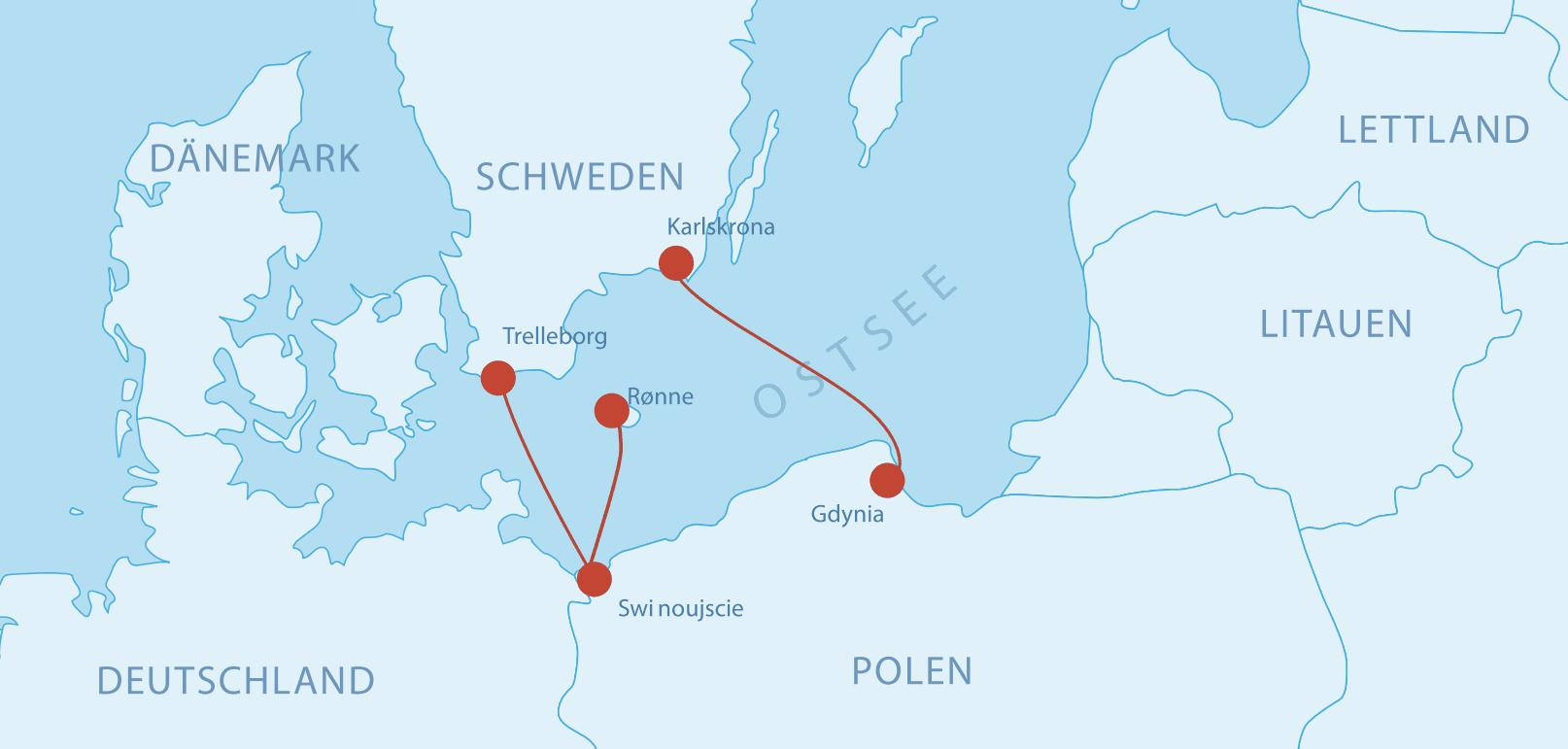 Fährverbindungen nach Polen