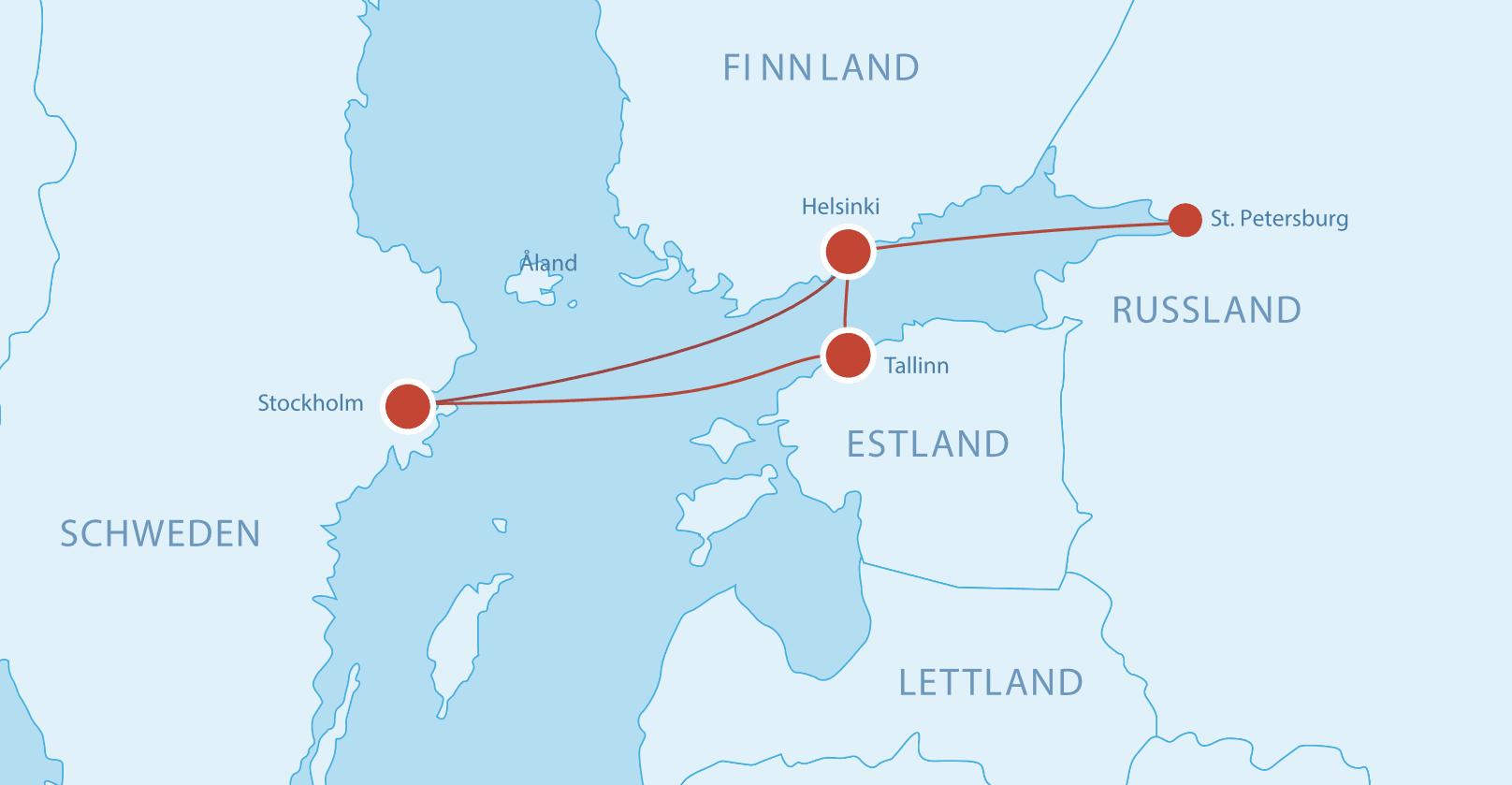 Fährverbindungen nach Russland