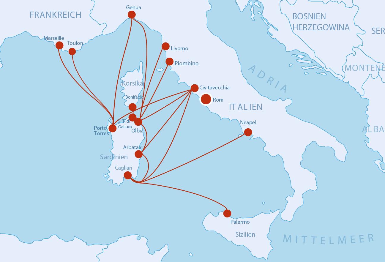 Fähren nach Sardinien