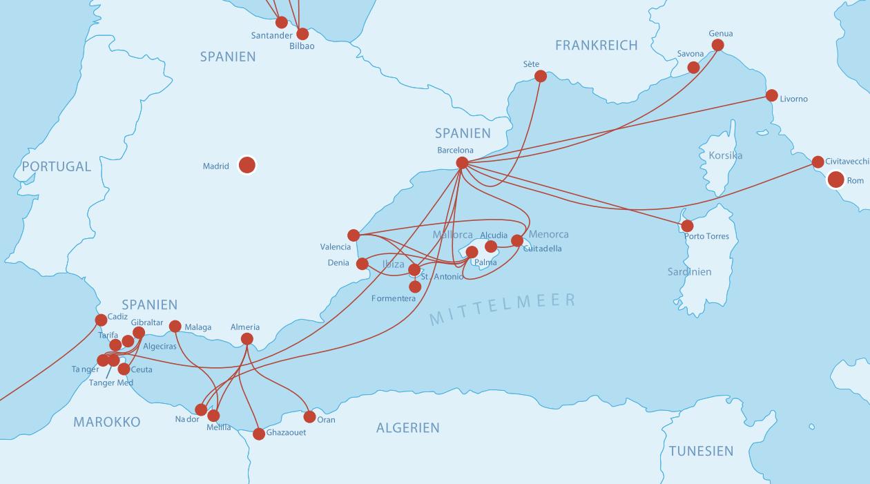 Fähren Spanien (Süden)