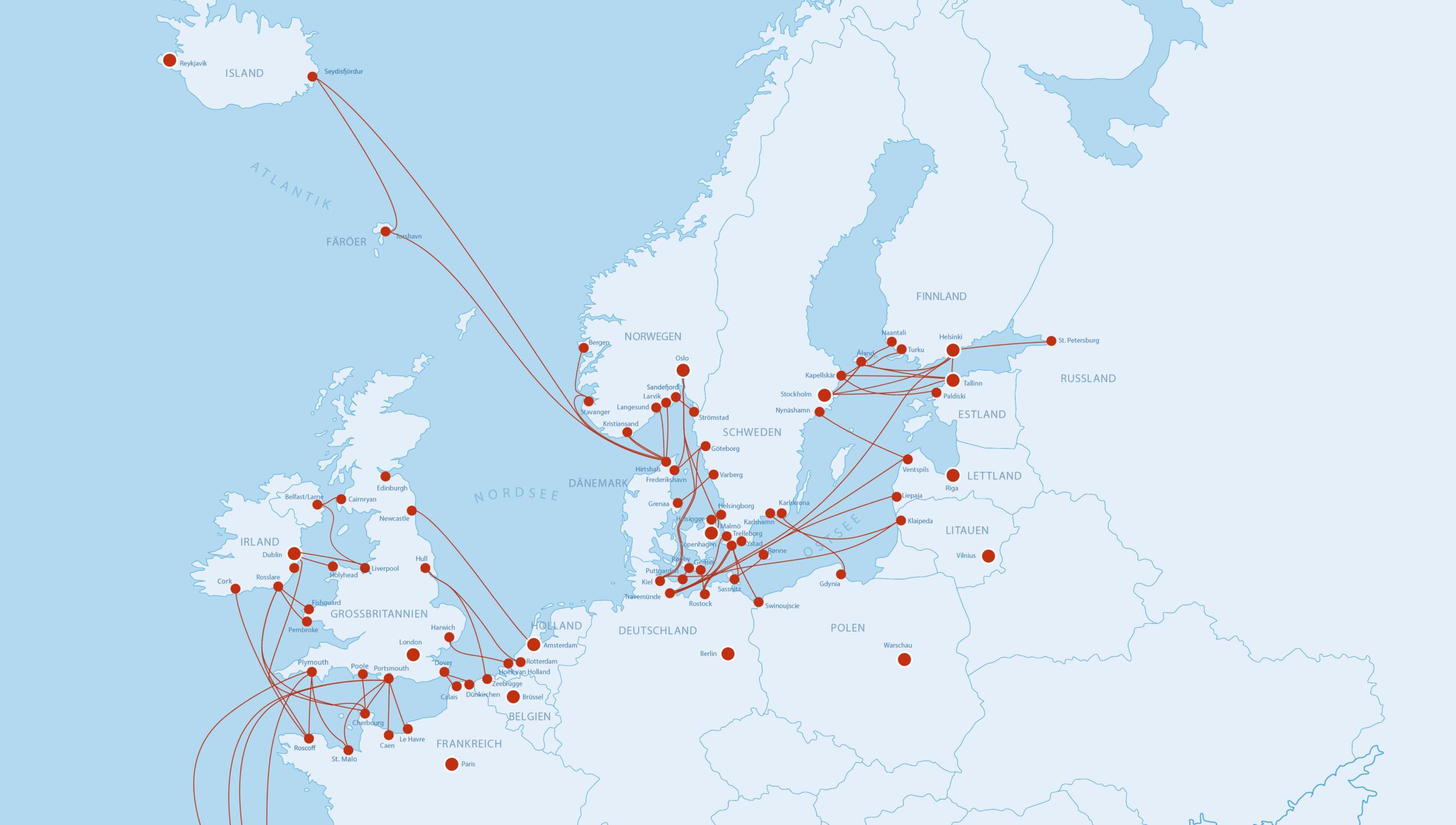 Fährkartenausschnitt Nordeuropa 429x301